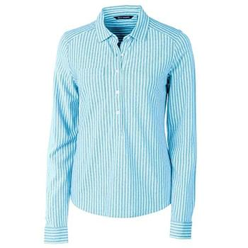 Ladies' Reach Oxford Stripe L/S Popover