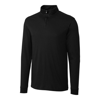 L/S Pima Belfair Zip Mock